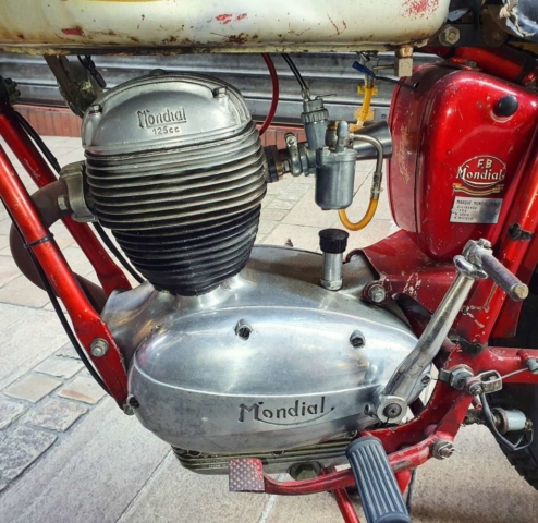 FB Mondial 125 Champion Lusso Serie d'Oro de 1959 moteur